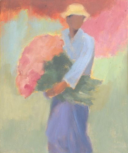 Clare Granger, At the Flower Market (London Gallery)