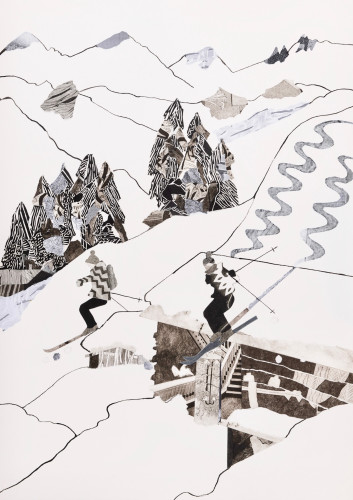 Dione Verulam, Skiing Chalet Roofs (London Gallery)