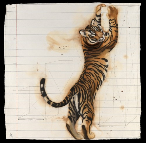 Nikki Stevens, Paper Tiger XI (Hungerford Gallery)