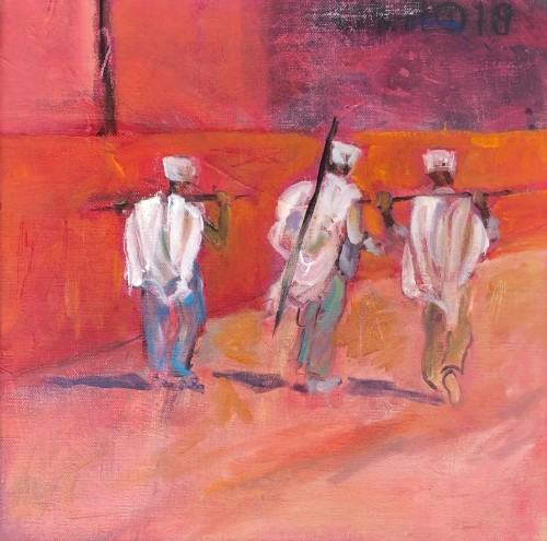 Annie Field, Walking up the Amhara Road (Hungerford Gallery)