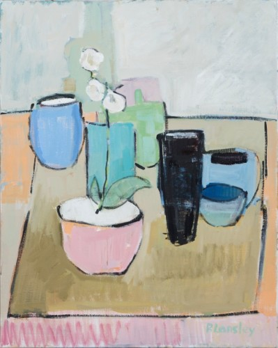 Bridget Lansley, White Orchid (Hungerford Gallery)