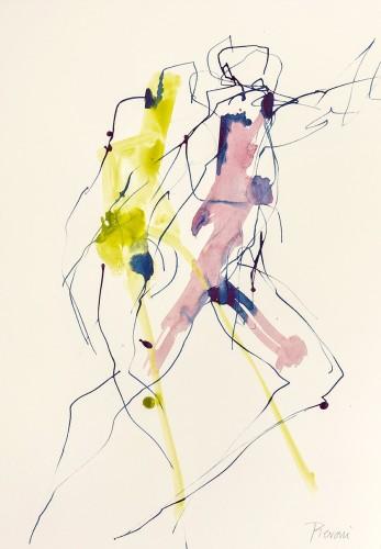 Bella Pieroni, Dancing at Dragobete II (Framed) (London Gallery)