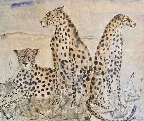Christine Seifert, Three Cheetah (London Gallery)
