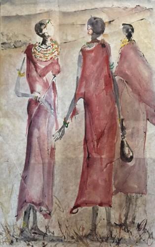 Christine Seifert, Three Masaai Women