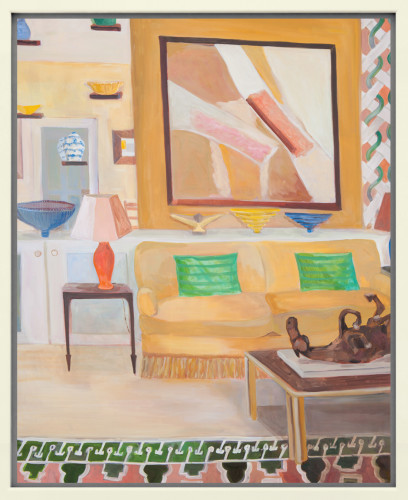 Lottie Cole, Interior with Sandra Blow and Elisabeth Frink Table Sculpture