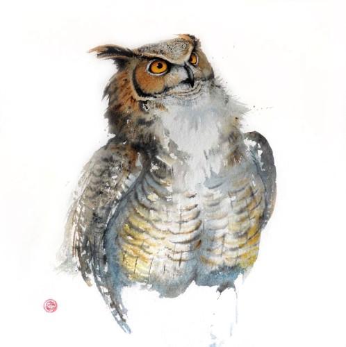 Great Horned Owl (Unframed)