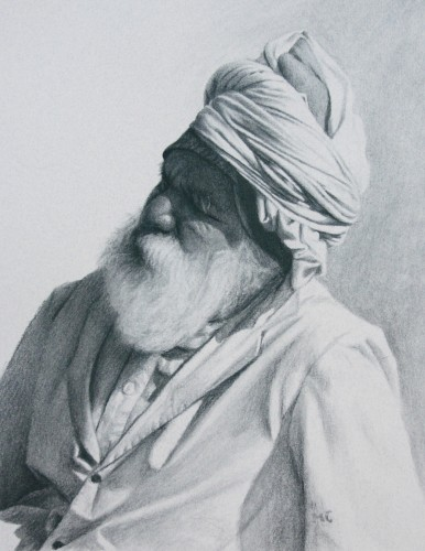 Mark Clark, Rajasthani Man II, Jodhpur (Hungerford Gallery)