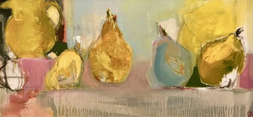 Jo Vollers, Yellow Jug and Pears (Hungerford Gallery)