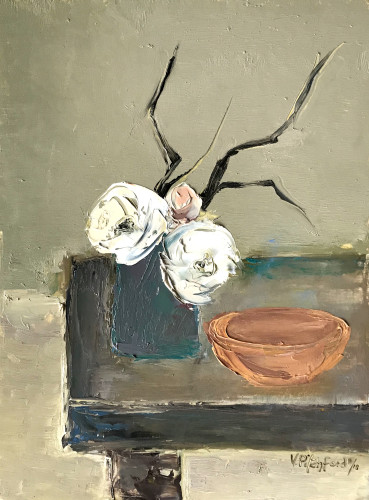 Val Pitchford, Pink Bud (Hungerford Gallery)