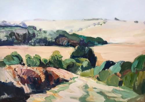 Minnie Shaw Stewart, West from Chaddleworth I (Hungerford Gallery)