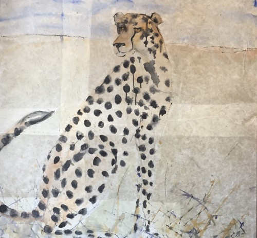 Christine Seifert, Cheetah (Framed) (Hungerford Gallery)