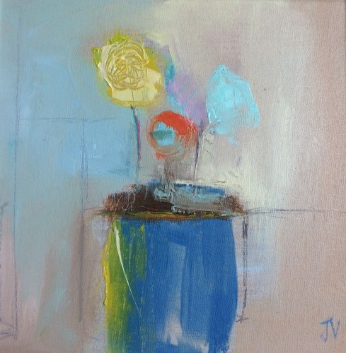 Jo Vollers, Yellow and Blue Flowers (Hungerford Gallery)