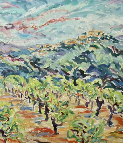 Fi Katzler, Vines near Ansouis (London Gallery)