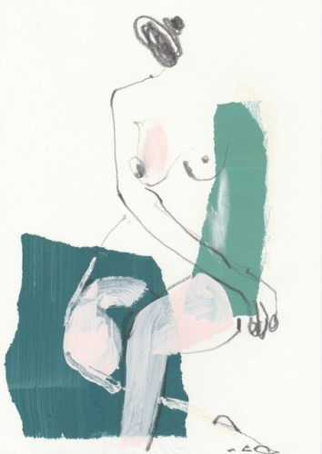 Jane Martin, Seated Lady in Teal (Hungerford Gallery)