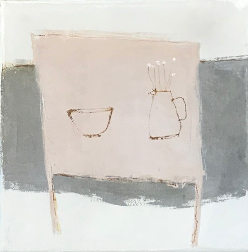 Jenny Lock, Pink Table (Hungerford Gallery)