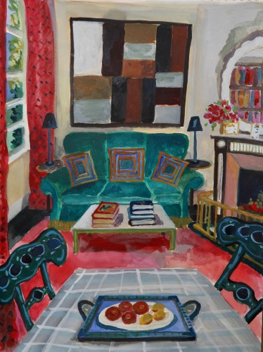 Lottie Cole, Interior with Sean Scully (Hungerford Gallery)