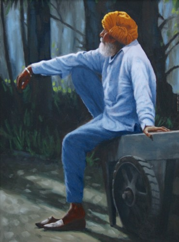 Mark Clark, Rajasthani Man, Jodhpur (London Gallery)