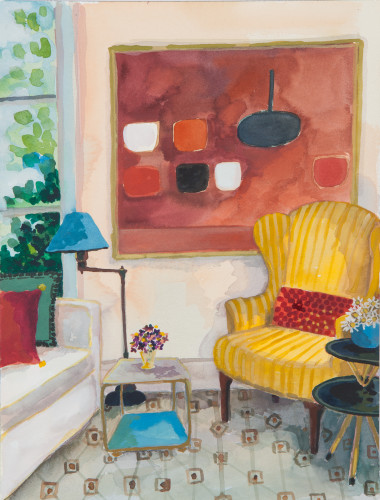 Lottie Cole, Interior with William Scott (London Gallery)