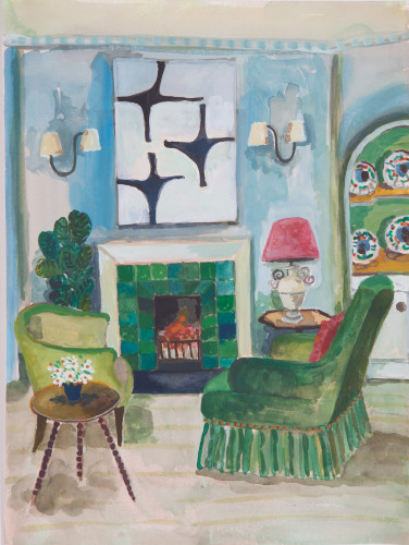 Lottie Cole, Interior with Terry Frost (London Gallery)