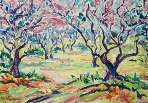 Fi Katzler, Olive Sunrise (Hungerford Gallery)