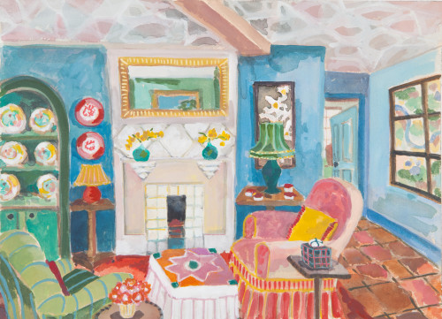Lottie Cole, Interior with Estate Map (London Gallery)