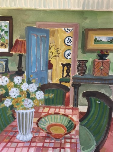 Lottie Cole, Dining Room and Green Chairs (London Gallery)