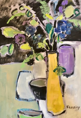 Bridget Lansley, Yellow Vase (London Gallery)