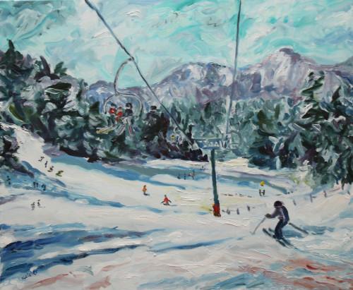 Fi Katzler, Time to Ski (London Gallery)