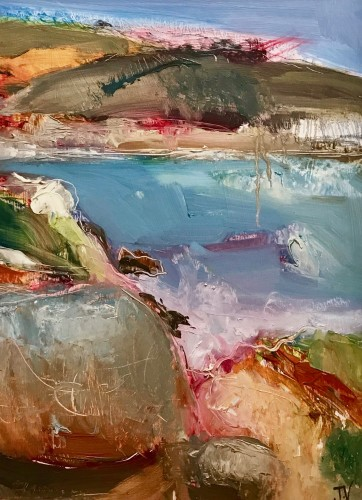 Jo Vollers, Cornish Coast (Hungerford Gallery)