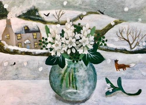 Sarah Bowman, Fox and Mistletoe (Hungerford Gallery)