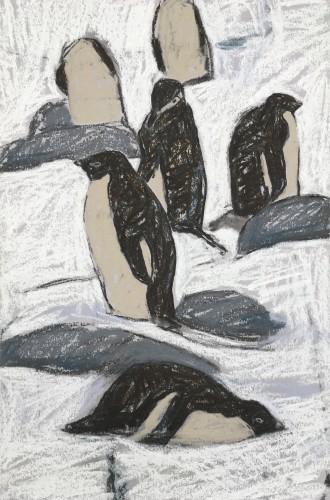 Dafila Scott, Adelie and Chinstrap Penguins II (Unframed)