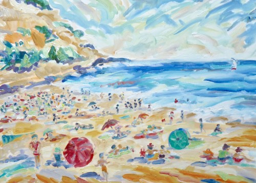 Fi Katzler, Cassis Beach (London Gallery)