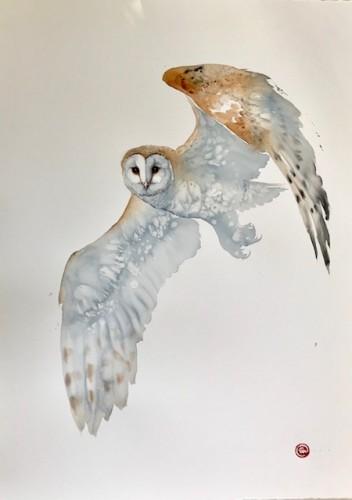 Karl Martens, Barn Owl (Unframed) (London Gallery)
