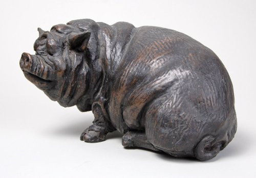 Rosalie Johnson, Seated Pot Bellied Pig
