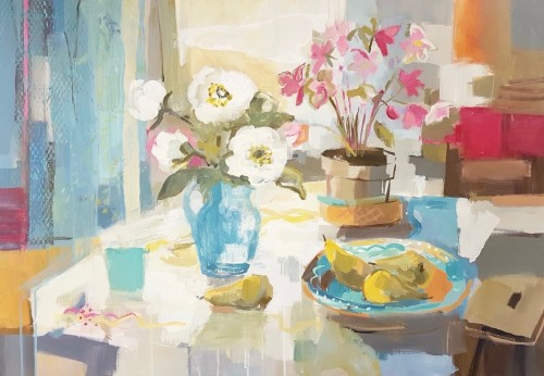 Kate Rhodes, Peonies and Pears