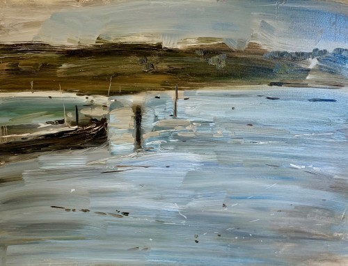 Richard Colson, Barge at Woodbridge II (Hungerford Gallery)