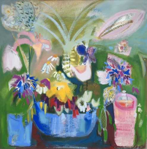 Annabel Fairfax, Pineapple Surprise with Agapanthus (London Gallery)