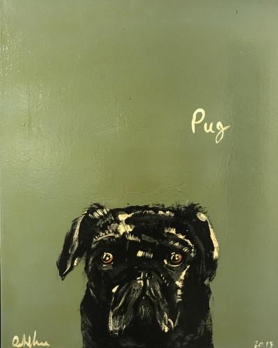 Robert James Clarke, Black Pug (London Gallery)
