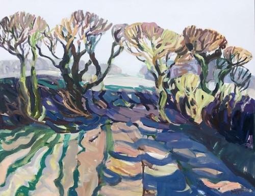 Minnie Shaw Stewart, East Garston Down Spring (Hungerford Gallery)