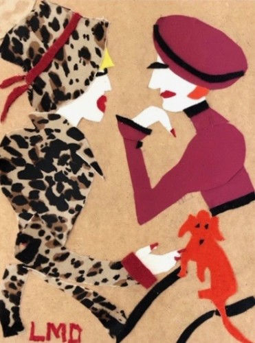 Lucy Dickens, Ladies and Dachshund (Hungerford Gallery)