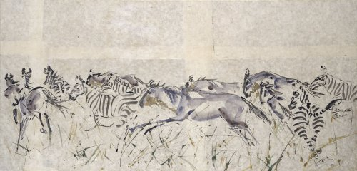 Christine Seifert, Wildebeest and Zebra (London Gallery)