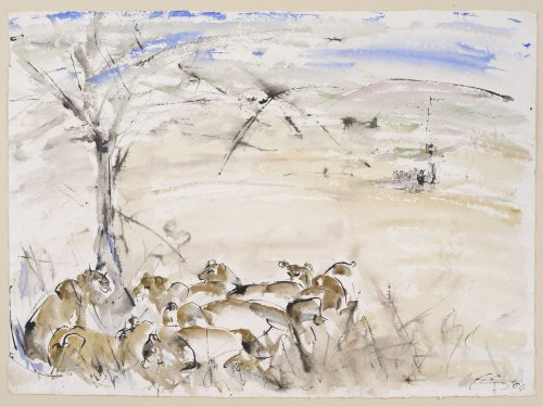 Christine Seifert, Lions under a tree (Unframed)