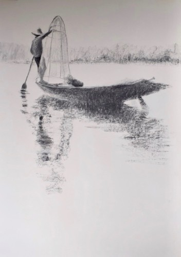Clare Granger, Fishing (London Gallery)
