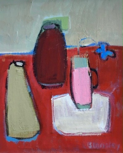 Bridget Lansley, The Red Table (Hungerford Gallery)