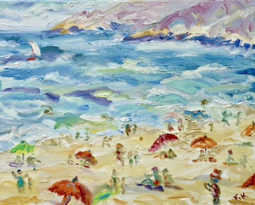 Fi Katzler, Afternoon at the Beach Cassis (London Gallery)