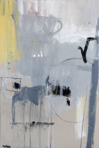 Felice Hodges, Grey and Lemon (Hungerford Gallery)