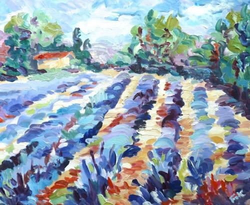 Fi Katzler, Lavender near Bonnieux (London Gallery)