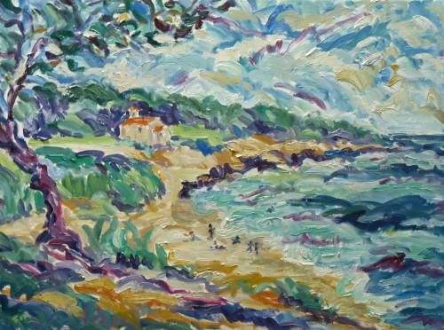 Fi Katzler, Beach and Chapel St Croix (Hungerford Gallery)