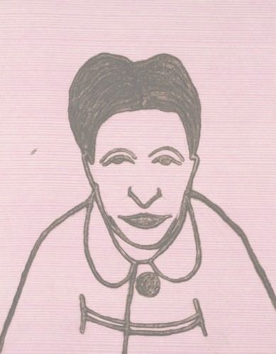 Kate Boxer, Simone de Beauvoir (Unframed)