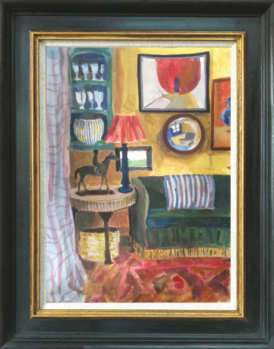 Lottie Cole, Interior with Frink Horse and Rider (Hungerford Gallery)
